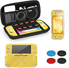iAmer Accessories Kits for Nintendo Switch Lite 5 in 1, include Protective Carrying Case,TPU ProtectiveBack Cover and 2pc...