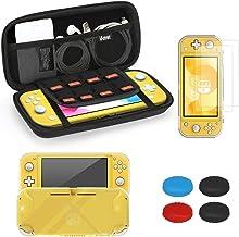 iAmer Accessoire Kit de Protection pour Nintendo Switch Lite, Étui de Transport pour Nintendo Switch Lite, TPU Souple Coqu...