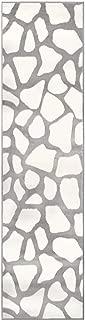 M By Liora LA2R8B91112 B911/12 Crescent Cobblestone Giraffe Print Indoor Runner Rug, 2' X 7'6