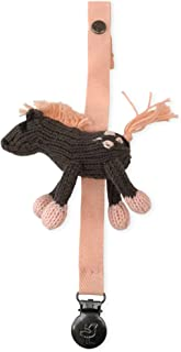 Finn + Emma Organic Cotton Rattle Pacifier Holder for Baby Boy or Girl – Molly The Horse