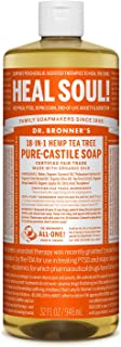 Dr. Bronner's - Pure-Castile Liquid Soap (Tea Tree, 32 ounce) - Made with Organic Oils, 18-in-1 Uses: Acne-Prone Skin, Dan...