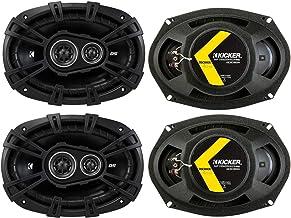 KICKER 43DSC69304DS 6x9 720 Watt 3-Way 4-Ohm Car Audio Thin Profile Coaxial Speakers with Dome Tweeters, Foam Surrounds & ... photo