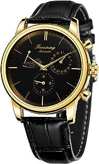 Forsining Men Automatic Watch Power Reserve Date Display Fashion Mechanical Wristwatch