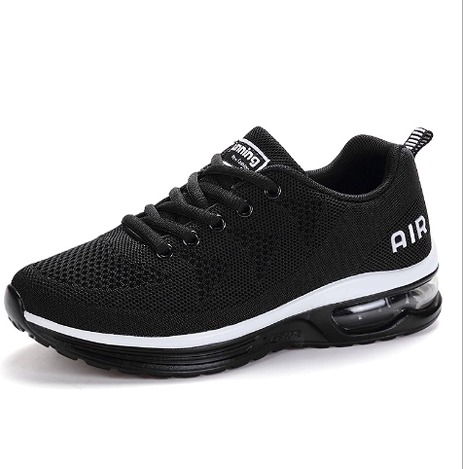 Men's Running shoes Young Fashion Breathable Fabric For Air Cushion Cushioning Soles Outdoor Sports