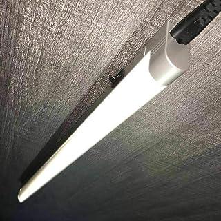 ONINO Lámpara LED para debajo de los muebles, barra de luz blanca neutra, barra de cocina con interruptor, lámpara de cocina, lámpara de armario, lámpara fluorescente, 60 cm, color plateado