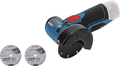 Bosch Professional GWS 12V-76 - Amoladora angular a batería 12V, 19500 rpm, disco 76 mm, 3 discos, sin batería, en caja
