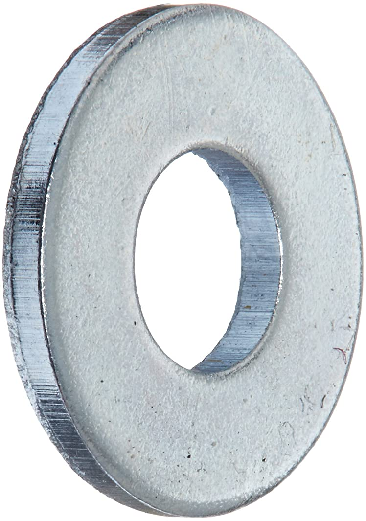 Steel Flat Washer, Zinc Plated Finish, ASME B18.22.1, No. 8 Screw Size, 3/16