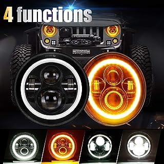 Faro de LED para Jeep Wrangler Sahara Rubicon Harley Toyota