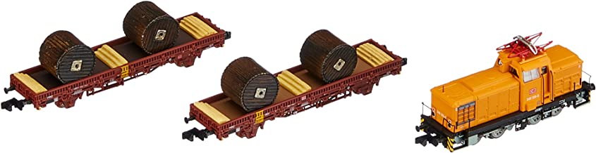 Arnold HN2301 Train Set of DB AG V60D with Two Flat Trains (Digital) Orange / Grey