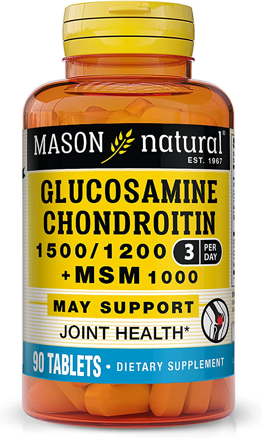 Mason Natural Glucosamine Online limited product Chondroitin 1500 with 1200 1000 New products, world's highest quality popular! + MSM