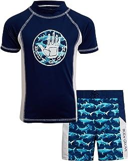 Body Glove Boys' 2-Piece UPF 50+ Rash Guard and Swimsuit Trunks Set (Little Boys/Big Boys)