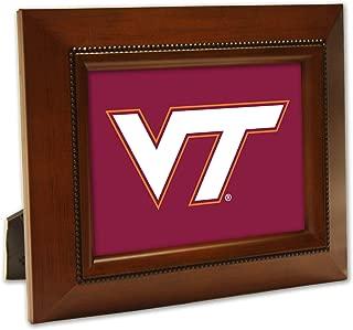 Woodgrain Frame NCAA Collegiate Team 8 x 10 Musical Table Top Photo Plaque: VT Logo