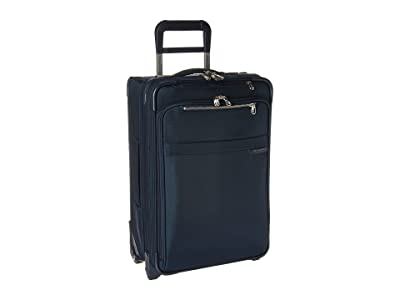 Briggs & Riley Baseline Domestic Carry-On Expandable Upright (Navy) Pullman Luggage
