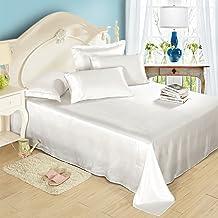 Lilysilk 1B02-02-CK 100% Mulberry Silk Sheets Set 4pcs 19 Momme, California King, White