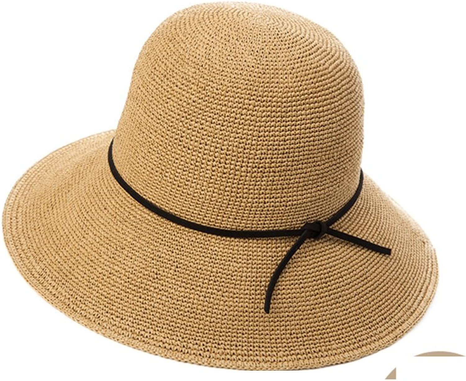 Sadahsdhjkh Womens Visor Straw Hat Collapsible,Large Along,Sun Hat Beach Hats
