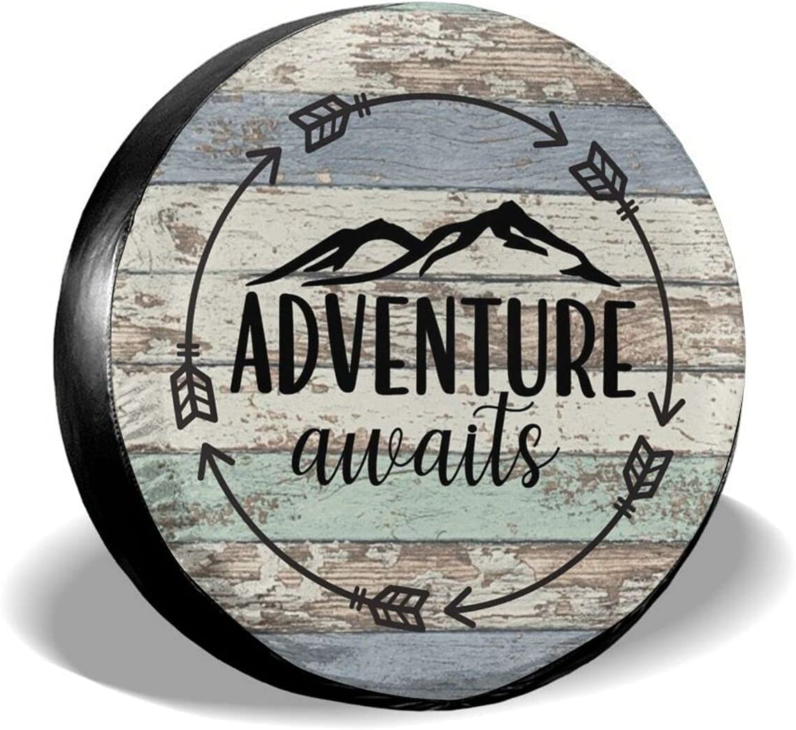 Hitamus Adventure Awaits Fashionable Spare Universal Wheel Tire Cover Animer and price revision