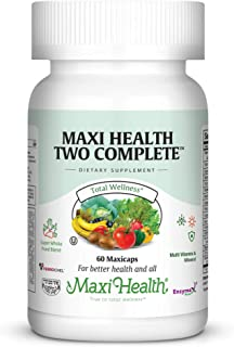 Maxi Health Two Complete - Multivitamins and Minerals - Full Potency - 60 Capsules – Kosher