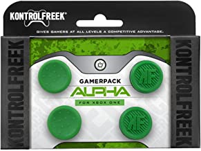 KontrolFreek GamerPack Alpha for Xbox One Controller | Performance Thumbsticks | 2 Low-Rise Concave, 2 Low-Rise | Green