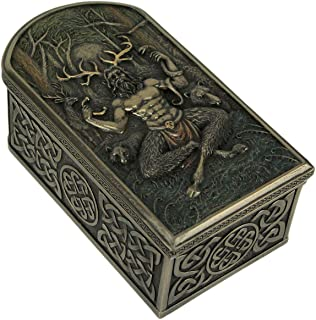 Veronese Design Cernunnos Celtic Horned God of Animals and The Underworld Trinket Box