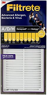 Filtrete A/D/H Advanced Allergen Bacteria & Virus HEPA Air Purifier Replacement Filter for Honeywell & Holmes