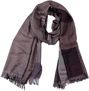 Fall Winter Scarf Scarves for men Knitted Soft Stripe oblong Scarf