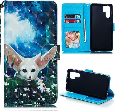 Huawei P30 Pro H�lle Lader Tasche PU Lader H�lle Gemalt Muster Flip Brieftasche Kartenhalter Magnetschnalle St�nder Sto�fest Kratzfest Sto�stange Handyh�lle Elf Wolf : B�robedarf & Schreibwaren