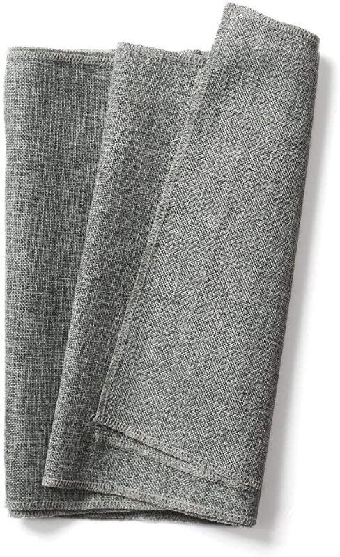 Ling S Moment Gray Table Runner Burlap Table Runner Imitated Linen 14 X 60 Inch For Wedding Party Table Farmhouse Table Runner