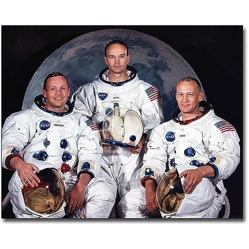Apollo 11 Moon Landing Astronaut Crew 8x10 Museum Silver Halide Photo Print