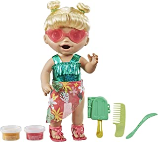 """Baby Alive Sunshine Snacks Doll, Eats and """"Poops,"""" Waterplay Baby Doll, Ice Pop Mold, Toy for Kids 3 and Up, Blonde Hair"""