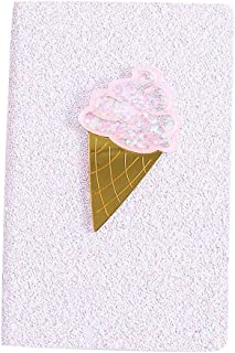 cnnIUHA Ice Cream Girl Cartoon Cute Diary Book Notebook Notepad Memo Paper Description, Gift for Students Children