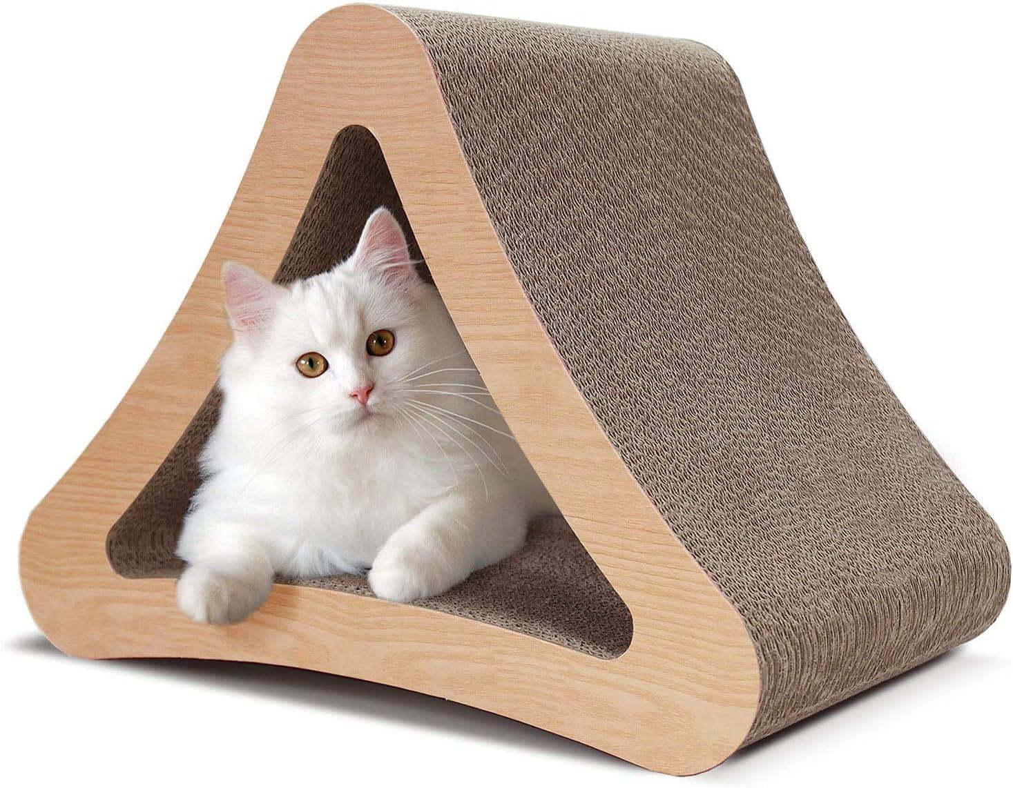 ScratchMe 3-Sided Triangle Cat Scratcher Cardboa Max 64% OFF Scratching Post Max 77% OFF