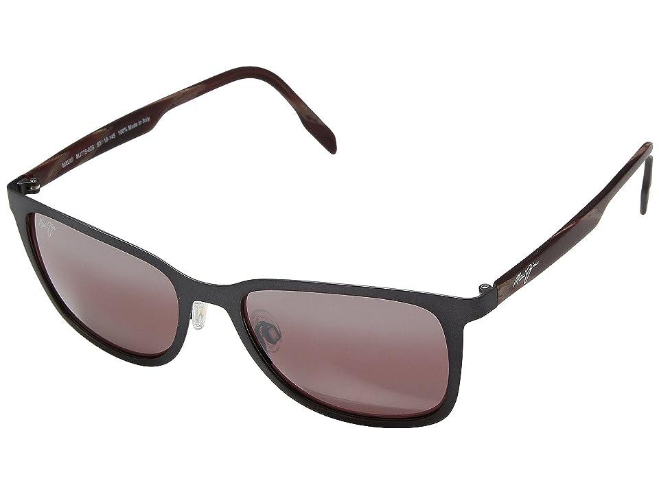 Maui Jim Naupaka (Dark Gunmetal/Maui Rose) Athletic Performance Sport Sunglasses