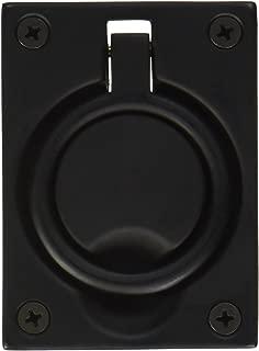 Baldwin 0395190 Flush Ring Pull, Black