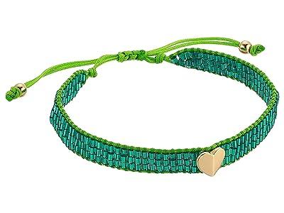 Kate Spade New York Heritage Spade Friendship Bracelet (Green) Bracelet