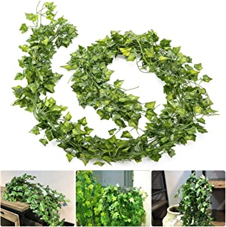 ANPHSIN 20 Pcs Artificial Ivy Garland (79''/Strand)- Plastic Fake Hanging Greenery Ivy Vine Leaves Plant Decor for Home Kitchen Wedding Party Wall Outdoor Garden Decoration