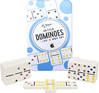 Regal Games Double 6 Dominoes in Reusable Tin Case
