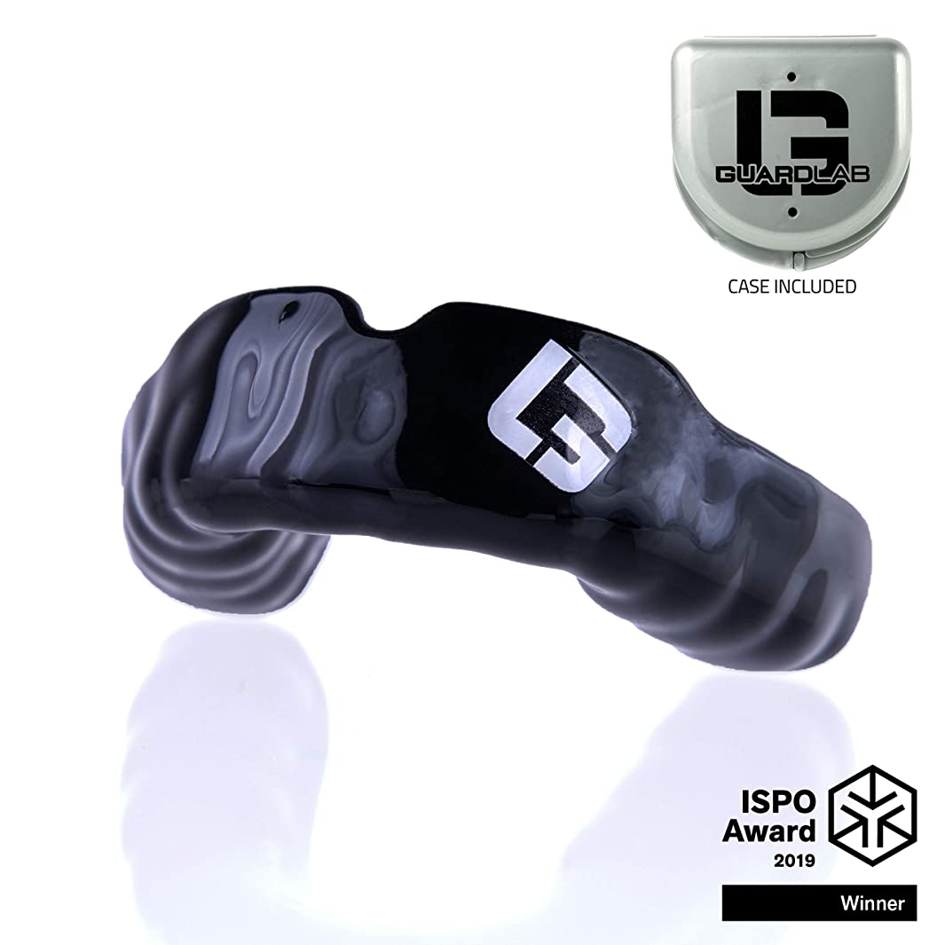 GuardLab APEX Mouthguard for Sports | Boil and Bite Hockey, MMA, and Football Mouthpiece with 3D Technology | Tackle and Flag Football Gear for Kids and Adults yhtsehbif34