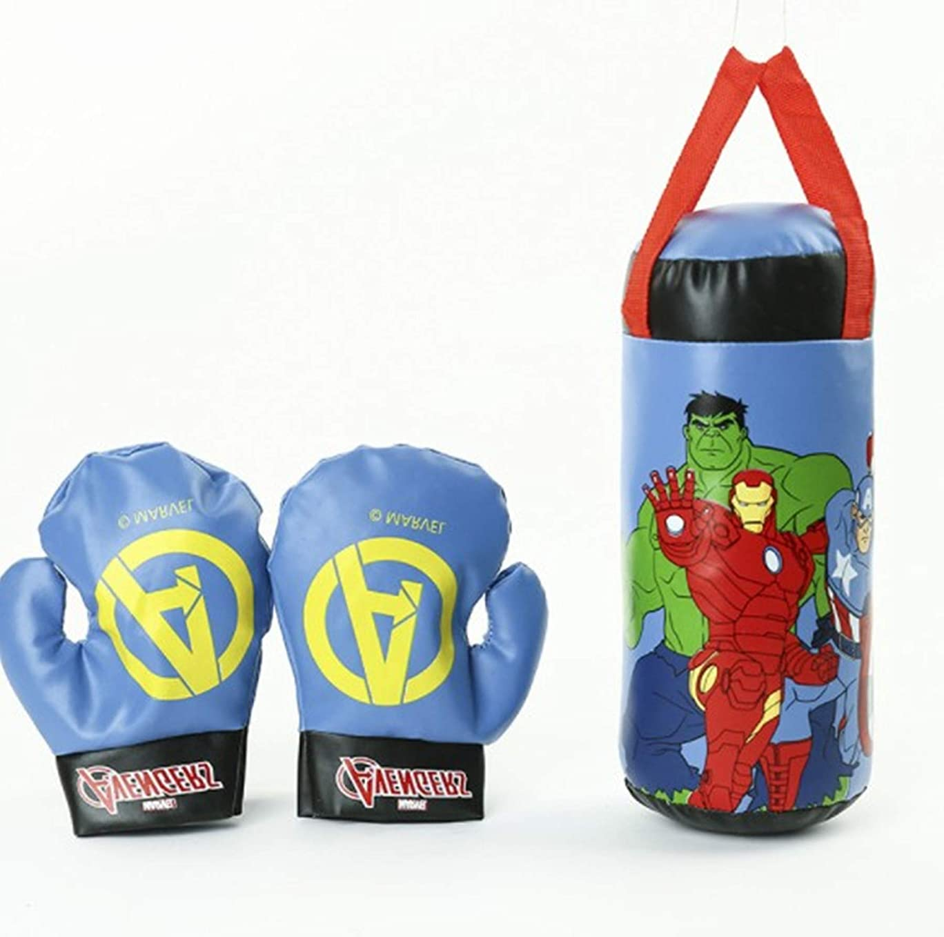 The Avengers Spiderman Mini Punching Bag for Kids Filled Boxing Bag Set for MMA and Kickboxing Training