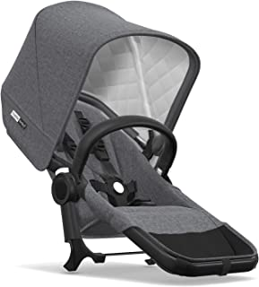 Bugaboo Donkey2 Classic Collection Duo Extension Set, Black/Grey Mélange – Expand from a Single to a Double Stroller. Includes Duo Extension Adapter, a Toddler Seat, Sun Canopy & Rain Cover!