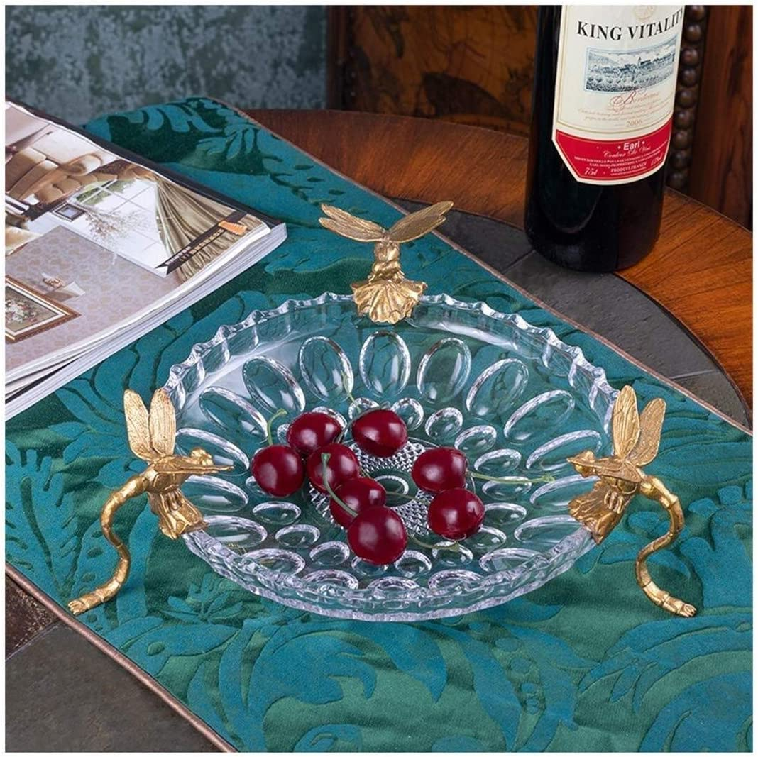 Cake Stand Party Tray Salad Bowl Fruit Online limited product Crystal Bo unisex Glass European