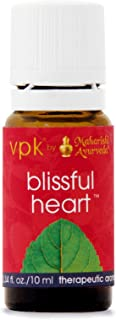 Blissful Heart Aroma Oil   0.34 fl. oz./10 ml   Herbal Essential Aromatic Oil for Uplifting the Emotions   With Rose, Peppermint & Sandalwood Oils   Aromatherapy   Soothe Your Mind for Inner Happiness