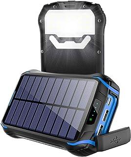 comprar comparacion Soluser Cargador Solar 26800mAh, Solar Power Bank con 3 Puertos USB, Batería Externa Solar 18 LED Linterna con Tecnología ...