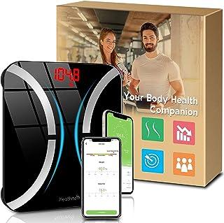 مقیاس چربی بدن ، مقیاس حمام دیجیتال وزن بلوتوث با BMI و درصد چربی بدن ، مقیاس هوشمند بی سیم دستگاه تجزیه و تحلیل ترکیب بدن مانیتور سلامتی با برنامه Android Android برای کاهش وزن