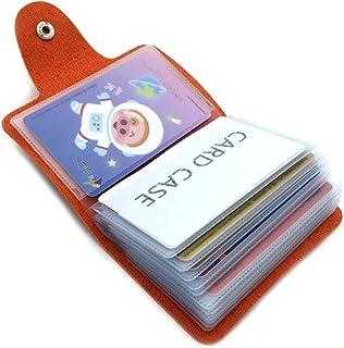 Porta Carte di Credito Pelle Donne Uomo - 24 Slot (Arancione)