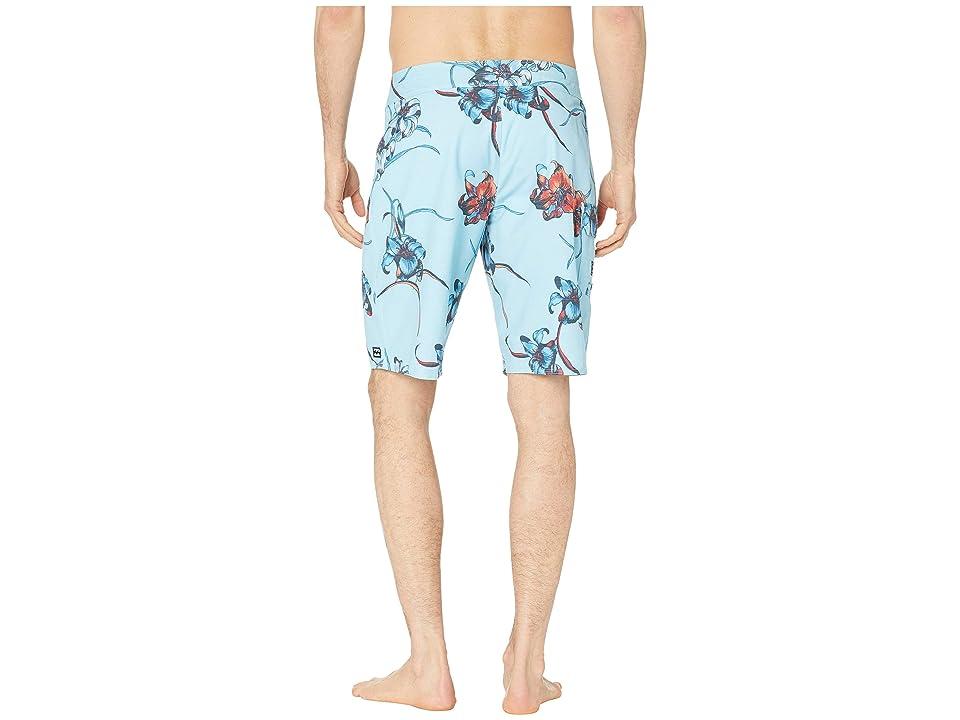 Billabong All Day Floral 20 (Coastal) Men's Swimwear, Blue