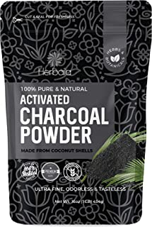Activated Charcoal Powder Food Grade, 1 lb. Activated Coconut Charcoal Powder, Activated Charcoal Bulk, Activated Charcoal...
