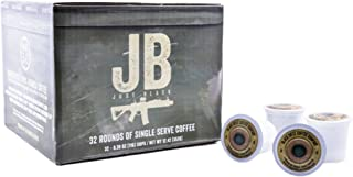 Black Rifle Coffee Company JB Just Black Coffee Rounds for Single Serve Brewing Machines (32 Count) Dark Roast Coffee Pods Cups