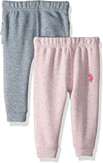 U.S. Polo Assn. Baby Girls 2 Pack Jogger
