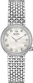 Bulova - Reloj Análogo clásico para Mujer de Cuarzo con Correa en Acero Inoxidable 96W206