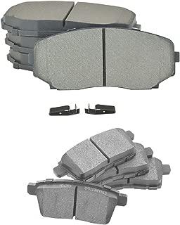 Front & Rear Semi Metallic Brake Pad Kit Set of 4 for Edge MKX CX7 CX9